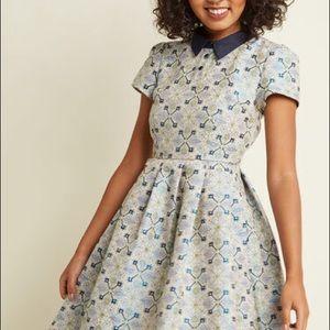 ModCloth Blue Collar A-Line Dress